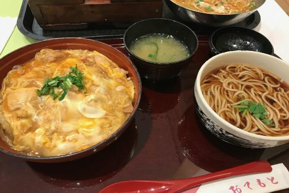 テラスモール湘南 潮風キッチン 芳露案 そば親子丼セット