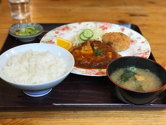 レストラン 紅花 チーズハンバーグ定食